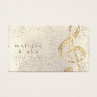 Musiklehrer-Imitat-Goldfolienhöhen Visitenkarte