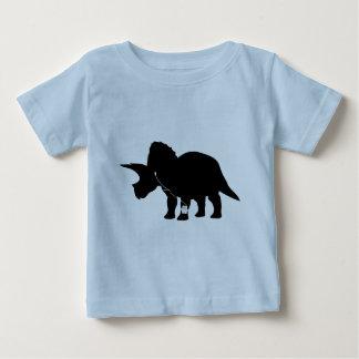 Musikliebevoller Triceratopsentwurf Baby T-shirt