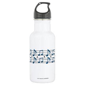 Musiknoten Edelstahlflasche