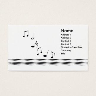 Musiknoten - Geschäft Visitenkarte