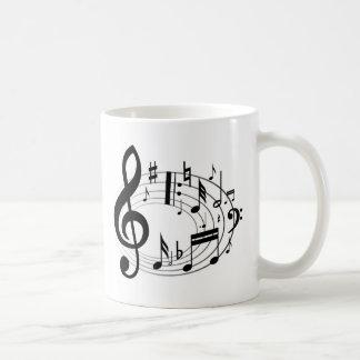 Musiknoten Kaffeetasse