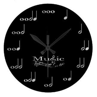 Musiknoten - Musik ist Leben Uhr