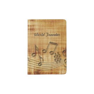 Musiknoten-Pass-Halter Passhülle