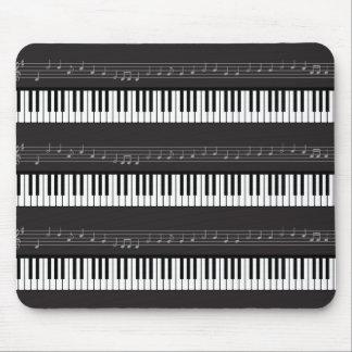 Musiknoten-Personal-Tastatur-oder Mousepads