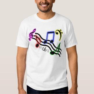 Musiknoten-Shirt Hemd
