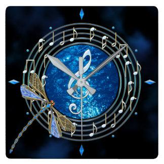 Musiknoten-Uhr Quadratische Wanduhr