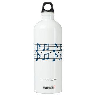 Musiknoten Wasserflasche