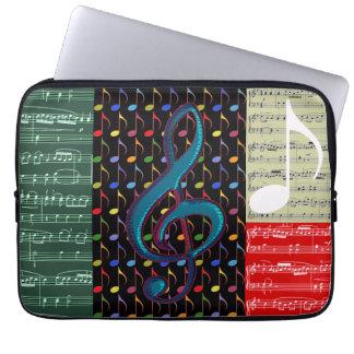 Musiknotenmischmuster Laptop Computer Schutzhülle