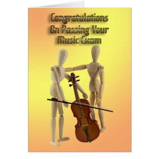 Musikprüfungsglückwünsche Grußkarte