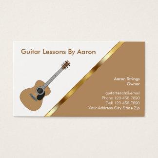 Musikunterricht-Visitenkarten Visitenkarte