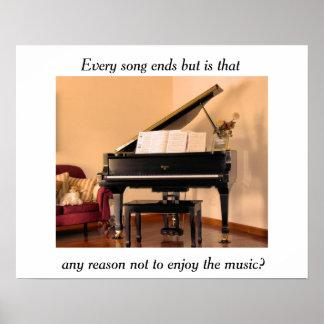 Musikzitatplakat Poster