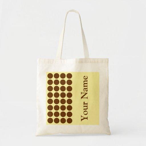 Muskatnuss-neutrale Sahnepunkte mit Namenstext Tasche