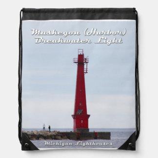 Muskegon (Hafen) Wellenbrecher-Licht - Rucksack Sportbeutel