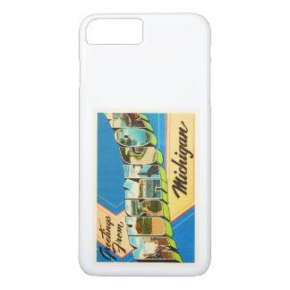Muskegon Michigan MI alte Vintage Reise-Andenken iPhone 8 Plus/7 Plus Hülle