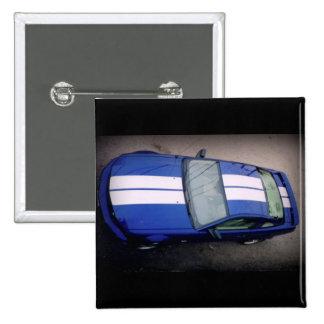 Muskel Auto Blau Knopf Button