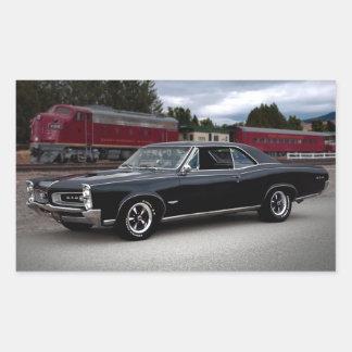Muskel-Auto-sich fortbewegender Zug 1966 Pontiacs Rechteckiger Aufkleber