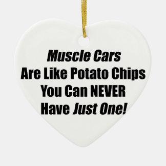 Muskel-Autos sind wie Kartoffelchips, die Sie nie Keramik Ornament