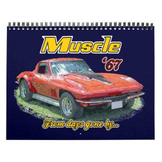 Muskel-Autos vom letzten Kalender