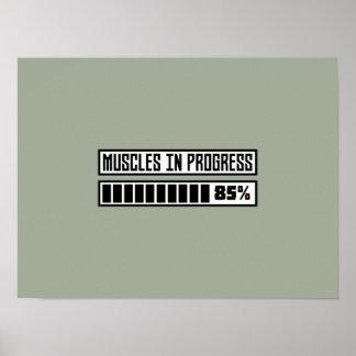 Muskeln in progess Training Z1k6x Poster