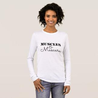 Muskeln und Wimperntuschen-Shirt Langarm T-Shirt