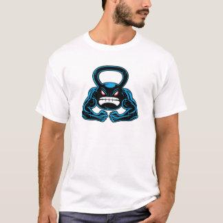 muskulöses verärgertes kettlebell Maskottchen T-Shirt