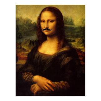 Mustachioed Mona Lisa Postkarte