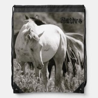 Mustang-Eingeborener Turnbeutel
