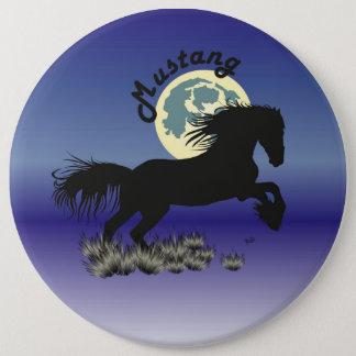 Mustang für Pferdeliebhaber Button