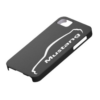 Mustang GT-Coupé-weißes Silhouette-Logo iPhone 5 Cover