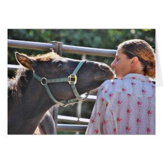 Mustang-Küsse Karte