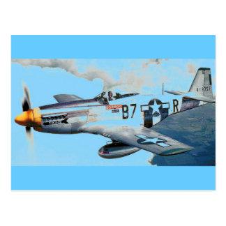 MUSTANG P-51 POSTKARTE