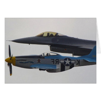 MUSTANG P-51 U.F-16 EAGLE KARTE
