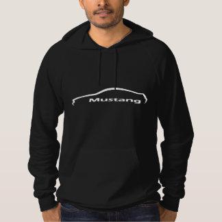 Mustang-weißes Silhouette-Logo Hoodie