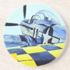 Mustangkämpfer des Weltkrieg-P-51 Sandstein Untersetzer