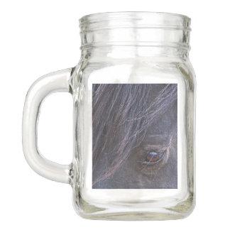Mustangstallions-Auge Einmachglas