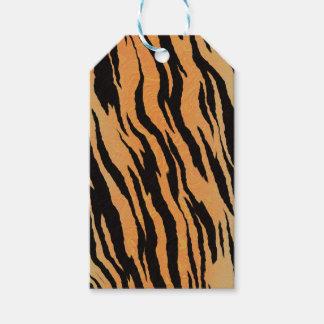 Muster-Beschaffenheitshintergrund des Tigers Geschenkanhänger