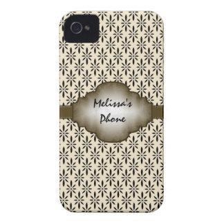Muster-BlackBerry-Telefon-Kasten Browns beige iPhone 4 Hülle