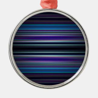 Muster der blauen Streifen Silbernes Ornament