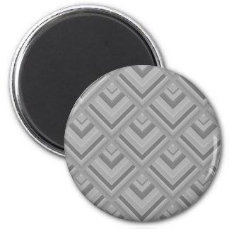 Muster der grauen Skala Runder Magnet 5,1 Cm