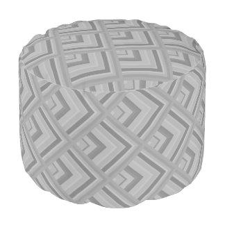 Muster der grauen Skala Runder Sitzpuff
