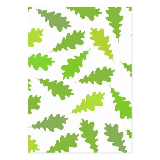 Muster der gr nen bl tter mini visitenkarten zazzle for Visitenkarten gratis vorlagen