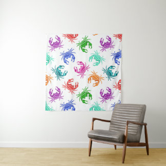 Muster der Krabben Wandteppich
