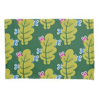 Muster der niedlichen Wanzen, die Grün-Blätter Kissenbezug