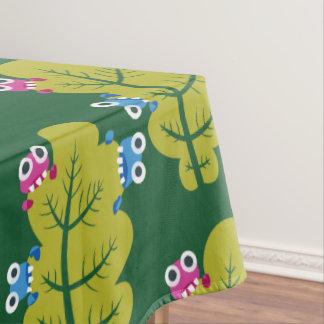 Muster der niedlichen Wanzen, die Grün-Blätter Tischdecke