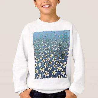 Muster der weißen Gänseblümchen Sweatshirt