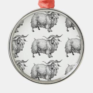 Muster des alten RAMs Silbernes Ornament