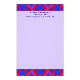 Muster des blauen Rotes Druckpapiere