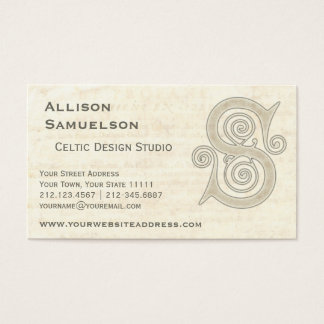 Muster des keltischer Wirbels-elegantes abstraktes Visitenkarte