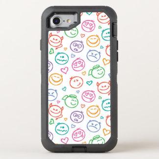 Muster des Lächelns OtterBox Defender iPhone 8/7 Hülle