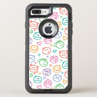 Muster des Lächelns OtterBox Defender iPhone 8 Plus/7 Plus Hülle